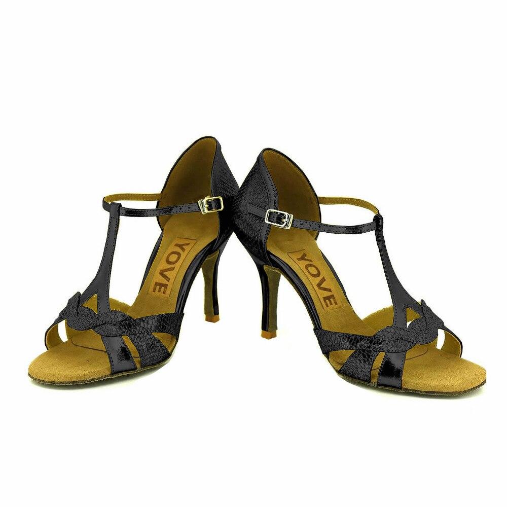 ФОТО YOVE Customizable Dance Shoe PU Women's Latin/ Salsa Dance Shoes 3.5