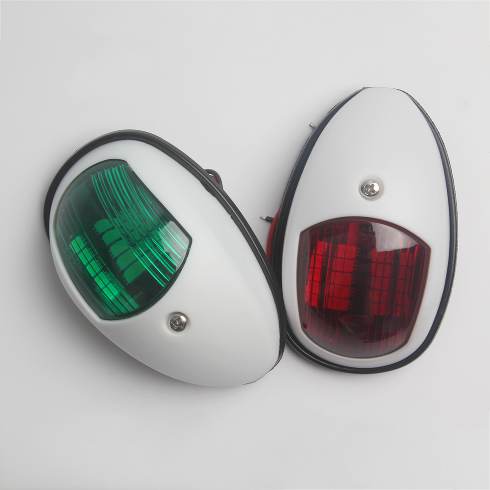 Image 4 - 1 Pair Marine Boat Yacht Navigation Light 12V Red Green Boat Accessories Marine-in Marine Hardware from Automobiles & Motorcycles