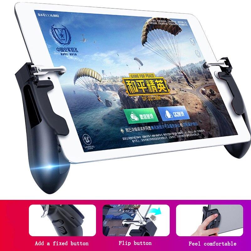 PUBG Mobie Controlador Gamepad para Ipad Tablet Gatilho Botão de Fogo Objetivo Chave Joystick de Jogos Móveis Pega L1R1 Atirador