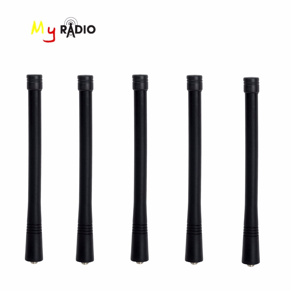 5pcs Stubby Antenna MX connector VHF for MOTOROLA EP GP series ham radio antenna Walkie Talkie Accessory aerial
