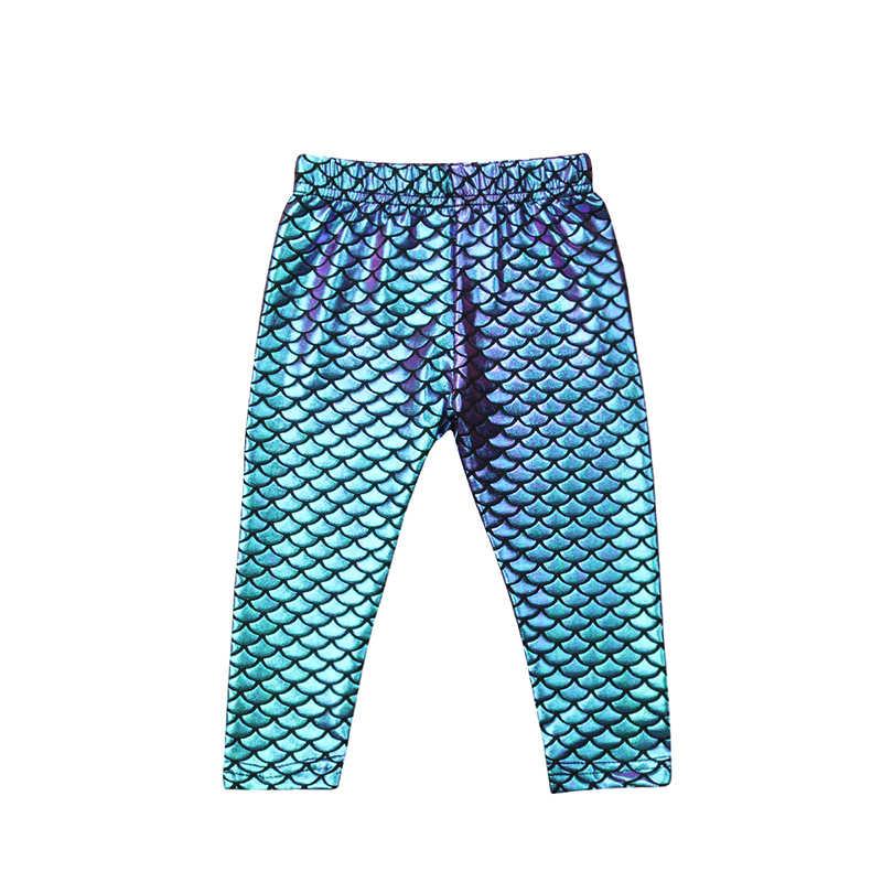 33e935aa05823 2019 Toddler Kid Baby Girl Mermaid Pants Infant Shiny Fish Scale Pencil  Leggings Trousers Cute Princess