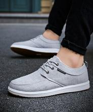 Summer autumn breathable men canvas shoes men's casual Vulcanize shoes fashion low board shoes for man lace-up solid Sneakers