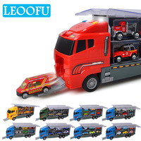 LEOOFU Alloy car models toys educational children toy truck equipped with lights and music storytelling model toy gift for kids
