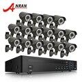 ANRAN 16CH sistema CCTV H.264 red NVR sistema de vigilancia de vídeo 1080 p 2MP Varifocal al aire libre IR red IP POE Cámara kit