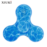 Music Hand Spinner LED Luminous Bluetooth Speakers Watermarks Tri Fidget EDC USB Charging For Anti Stress