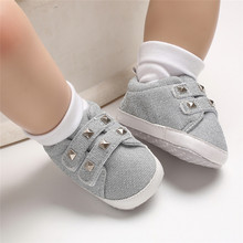 PUDCOCO Cute Toddler Kids Canvas Sneakers Baby Boy Girl Soft Sole Crib Shoes 0-18Months цена