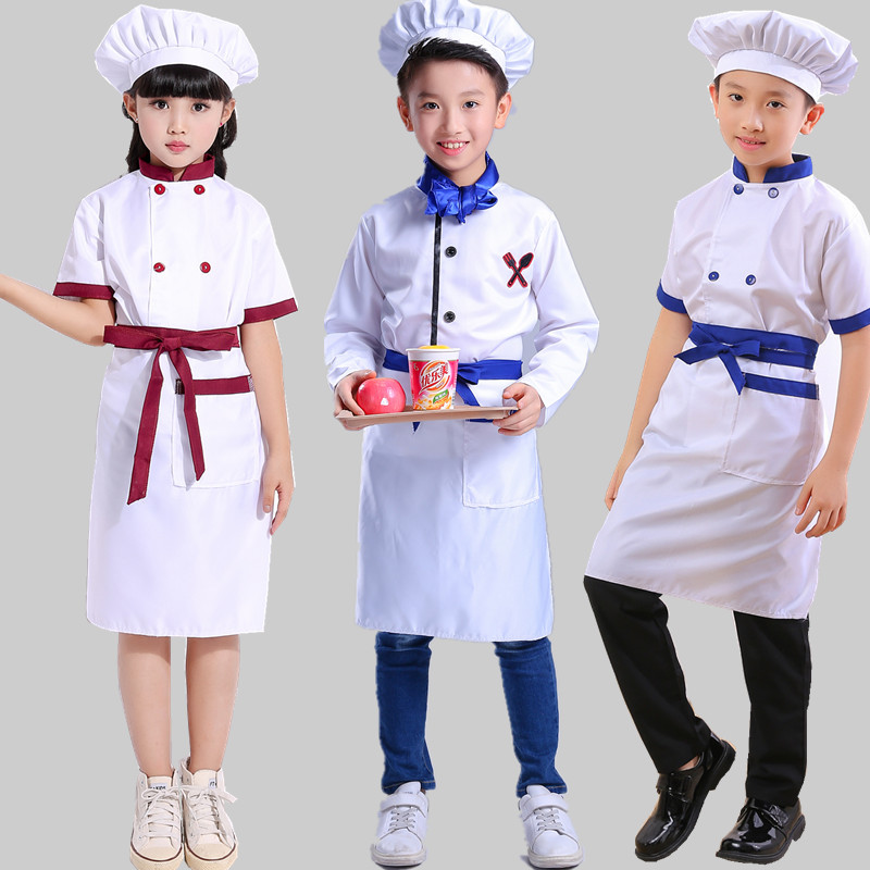 Kids Chef's Costume for Young Children ' S Playsuit Small Children's Apron Role - Playing Suit