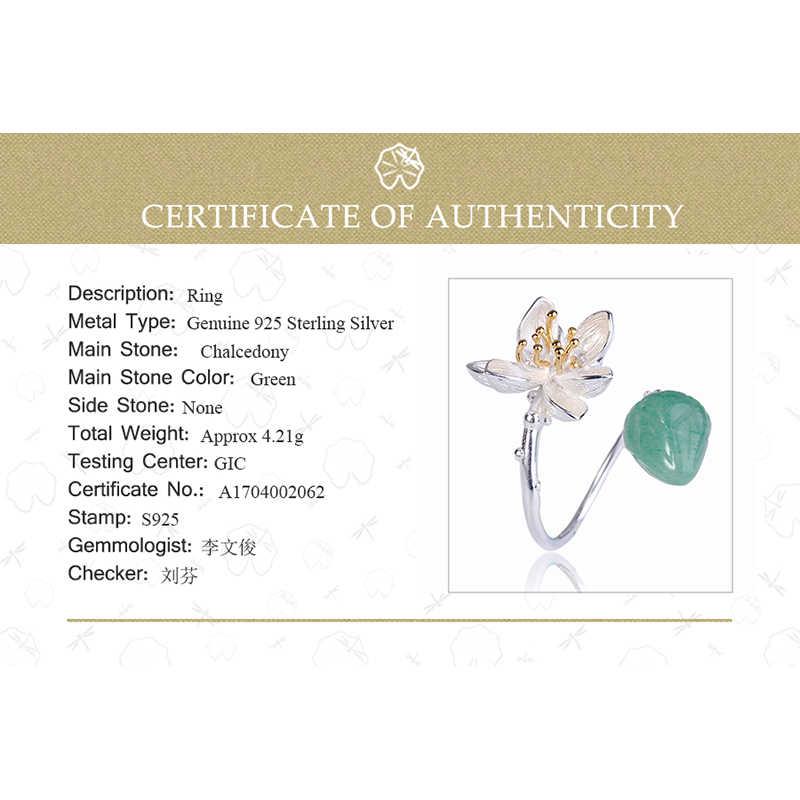 Lotus Vui Giây Phút Thật Nữ Bạc 925 Đá Tự Nhiên Trang Sức Thời Trang Vintage Nhẫn Hoa Cho Nữ Sỉ Số Lượng Lớn Phối Rất Nhiều
