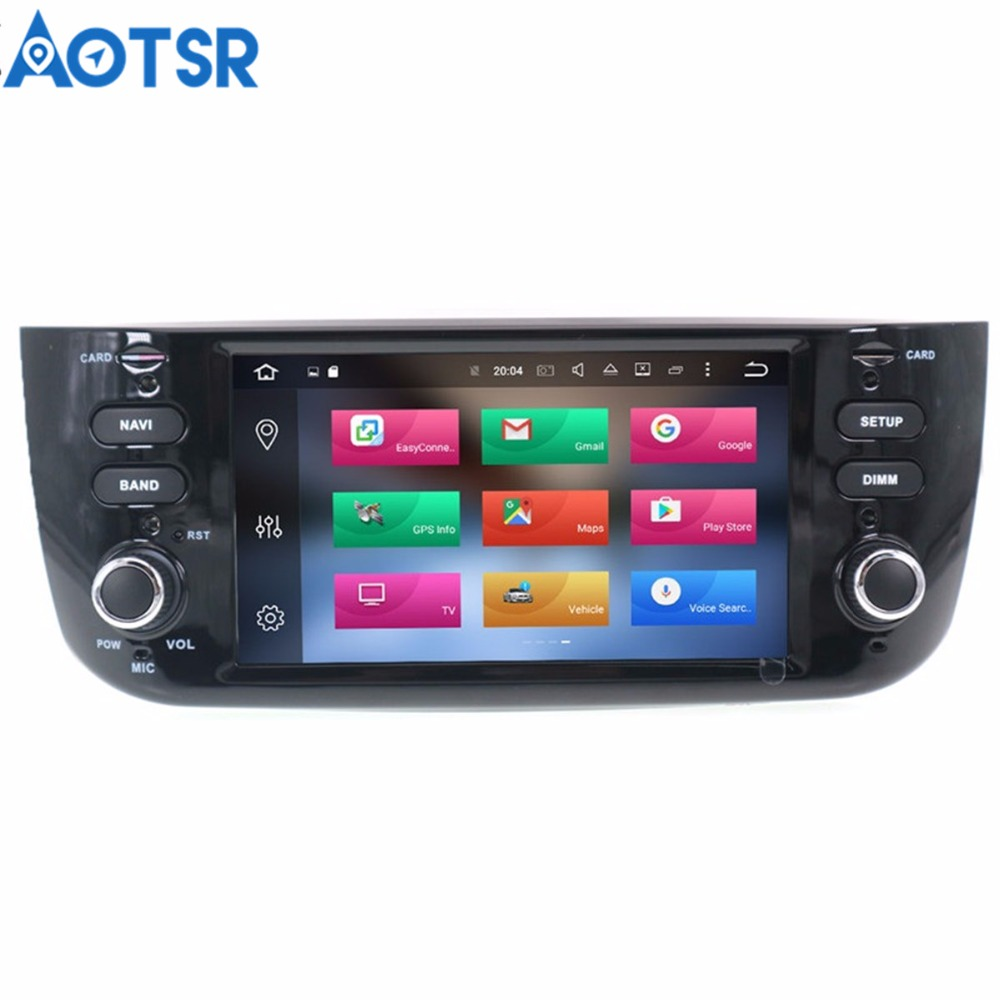 Newest Android 8.1 Car Stereo DVD Player GPS Glonass Multimedia for Fiat Grande Punto Linea 2012 2013 2014 2015 Audio RDS Radio