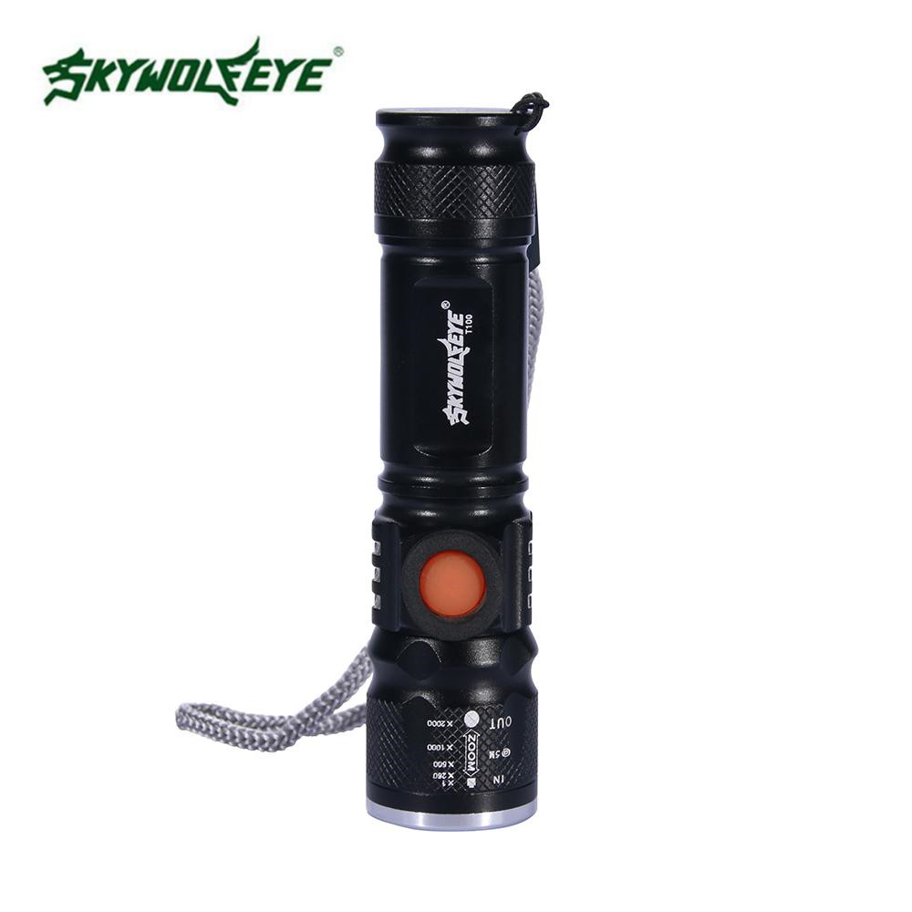 Zoomable Focus 1000LM T6 LED mini Taschenlampe Torch 18650 Outdoor Lampe 5 Modi