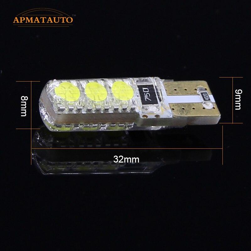 Ζεύγος T10 12V LED Clear Light Bulb Λάμπα - Φώτα αυτοκινήτων - Φωτογραφία 4