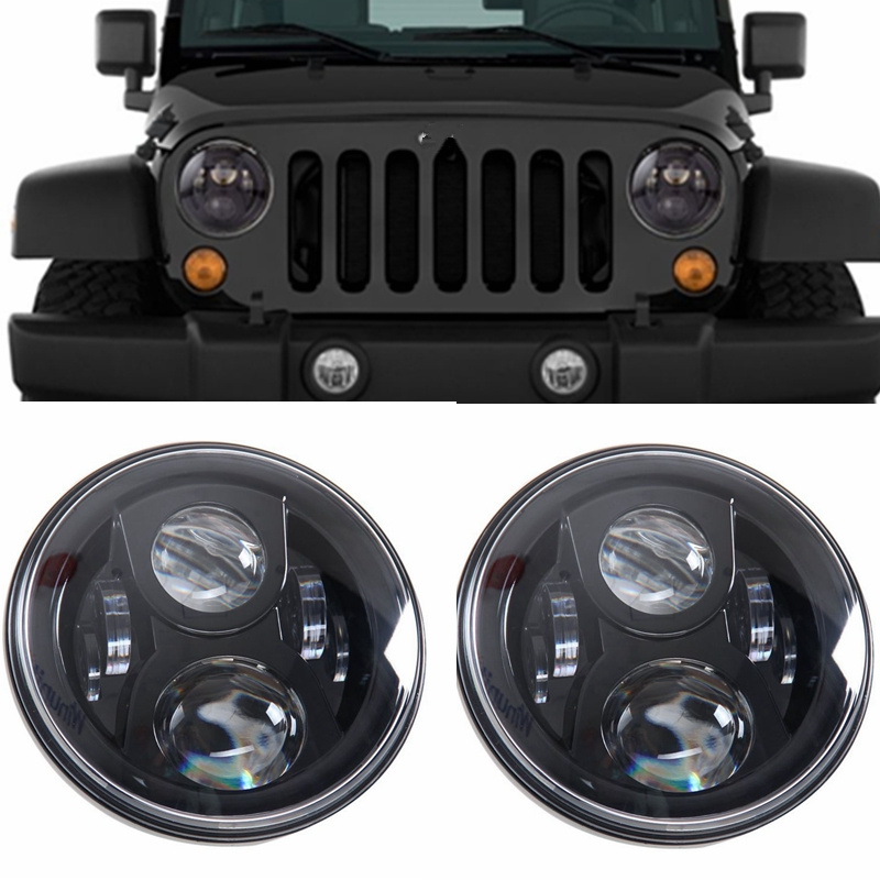 Car Led Light Wiring Diagram Off Grid Generator Black Daymaker Style Projection Headlight Kit For Jeep Applications 7