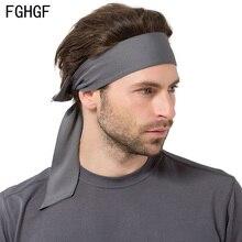 Absorbent Sweat Sport Headband Elastic Sweatband For Men Women Yoga Hair Bands Head Sweat Bands Running Gym Sports недорого