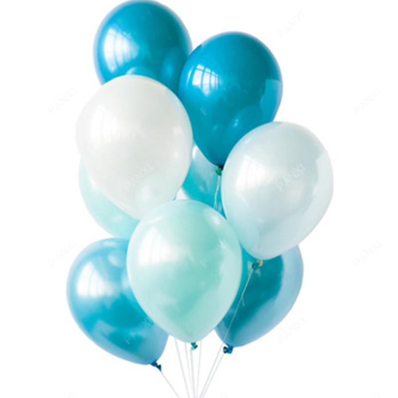 Verwonderend 10PCS Sweet Ballonnen Blauw Roze Goud Balloon Latex Happy Birthday QD-75