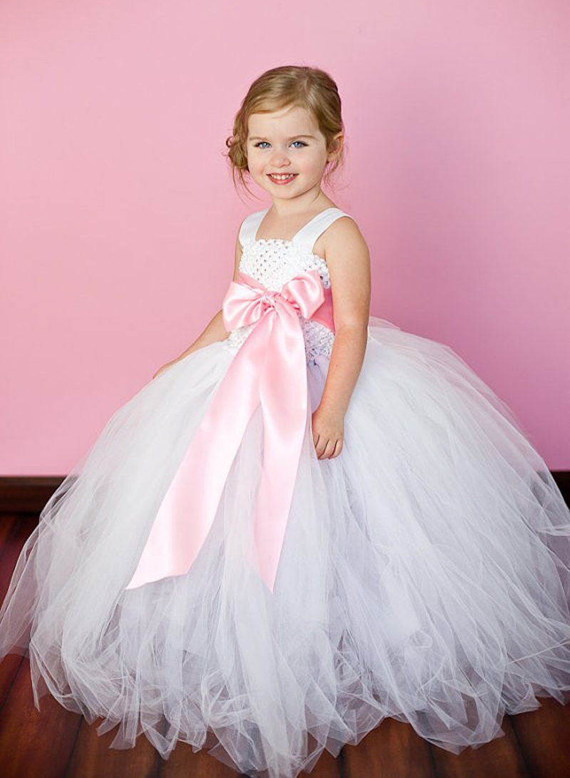 Pink Girl Tutu Dress For Birthday Photo Wedding Party Festival Children Kids Summer Tutu Dress Pricess Girl Tutu Dress 2-8T