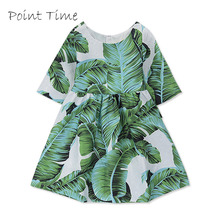 купить Girls Fall Print Dress Princess Dress New Autumn Full Long Sleeve Dress for Girls Children Casual Baby Girl Clothes по цене 487.18 рублей