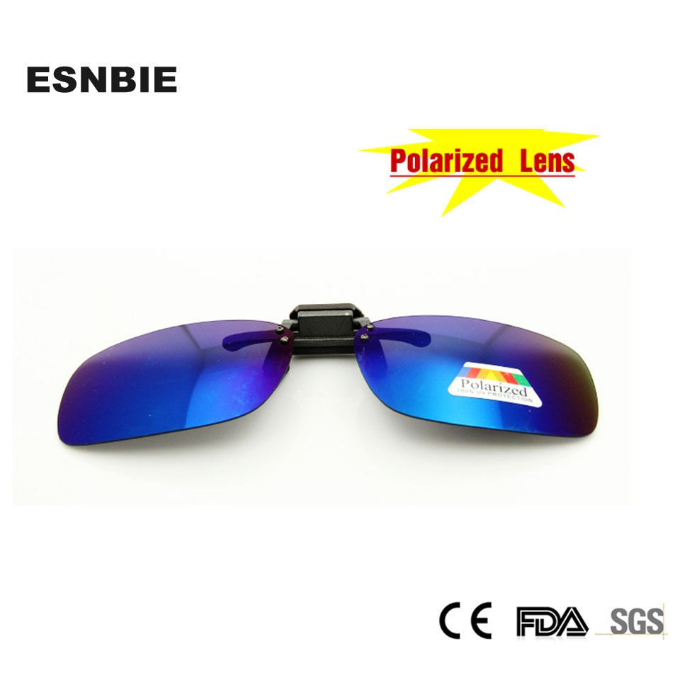 a2413d982b NEW Summer Style Men Women Blue Flip Up Polarized Clip on Regular Glasses Mirror  Sunglasses-in Sunglasses from Apparel Accessories on Aliexpress.com ...