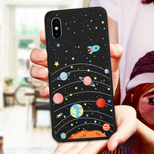 Silicone Case For iPhone XS Max Cute Cartoon Cover X XR Original 3D Relief Bumper Funda Coque 7 8