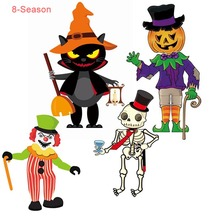 8-Season DIY Paper Scary Pumpkin Ghost Halloween Pendant Party Hanging Decorations For Home Birthday Supplies