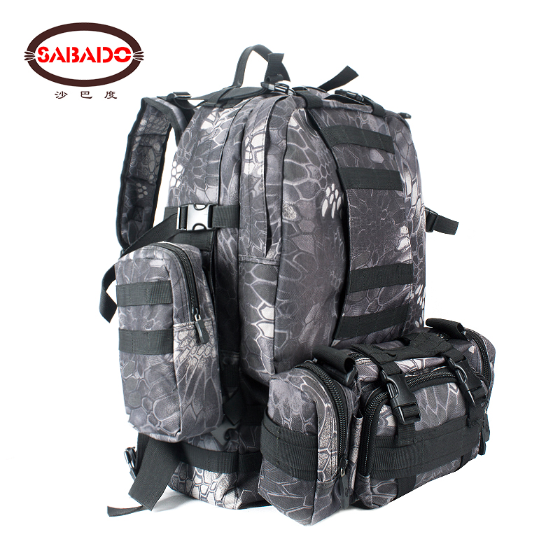 dd2aadd36db1 600D camo Outdoor waterproof Multifunctional Tactical Backpack Large  Capacity soft Travel Camping Hiking Hunting dry bag