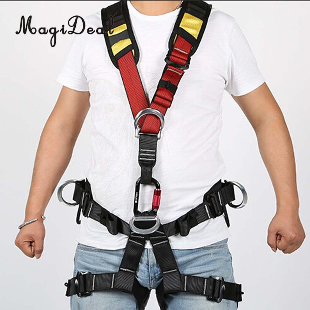 MagiDeal Outdoor Professional Safety Polyester Shoulder Strap Sling for Rock Climbing Camping Fall Protection Harness Equipment 25kn professional carabiner d shape safety master lock outdoor rock climbing buckle equipment