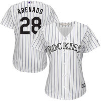 MLB Women S Colorado Rockies Nolan Arenado White Purple Home Cool Base Player Replica Jersey