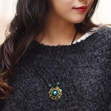 Chinese Ethnic Glass Glazed Necklace