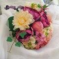 Vintage bouquet buquê de mariage holderWedding ramalhete nupcial lance Bouquet De Noiva Dama de honra Adereços Fotografia