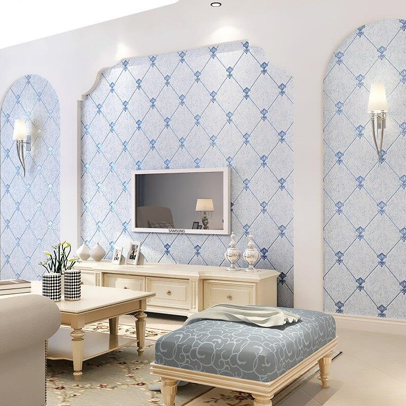 Modern European Thicker non-woven 3D wallpaper for Living Room TV Background modern luxury Wall paper roll home decor стоимость