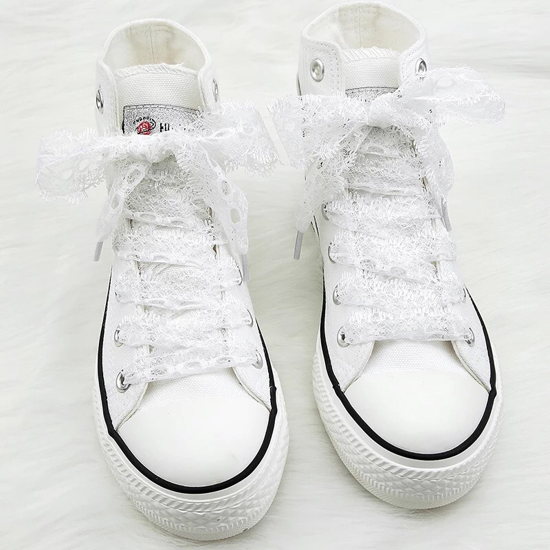 1Pair Colorful Openwork Lace Laces Off White Shoes Lace Sneaker Casuals Leather Shoelaces 3CM Width 80 100 120CM Length Shoelace in Shoelaces from Shoes