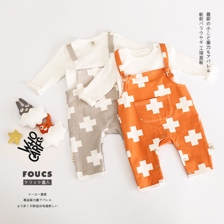 New Autumn Cotton baby Rompers Set with t shirt baby Jumpsuits Clothing baby clothes vestidos Children