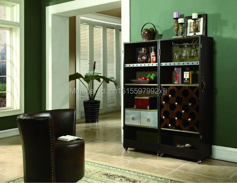 2019 Archivadores Para Sala Promotion salon armoires style américain armoire à vin meubles anciens nouveau modèle X23 - 6
