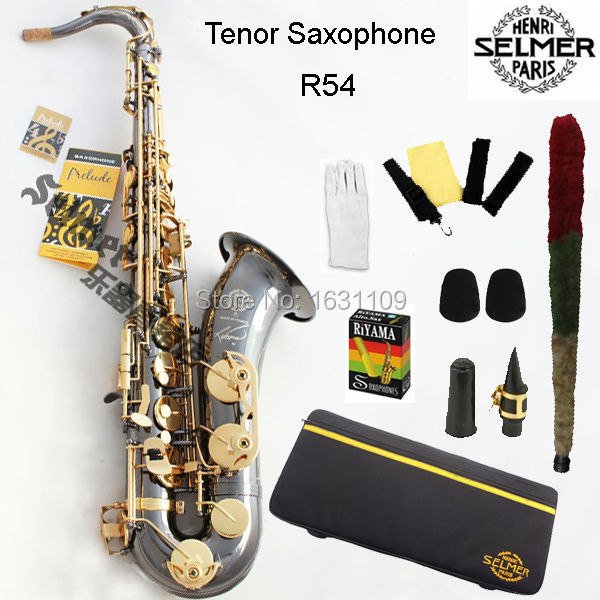 Cheap Brand New Genuine France Selmer Tenor Saxophone R54 Professional B Black Nickel Gold Sax mouthpiece With Case and Accessories