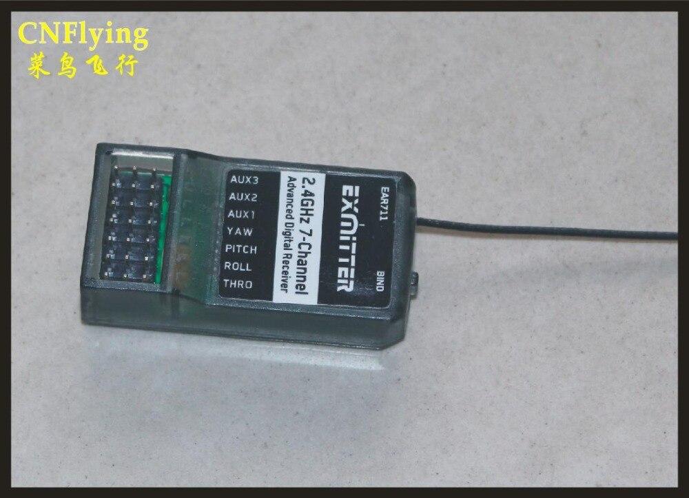 Venta libre del envío: aeroplano de RC/manía/repuesto lanyu radio exmitter EAR711 2.4g 7ch recivers