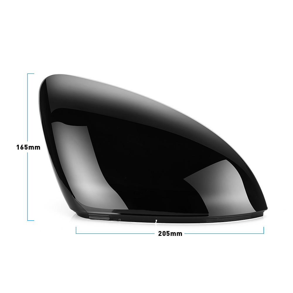 Image 5 - 2 pieces for VW Golf 7 MK7 7.5 GTD R GTI Touran L E GOLF Side Wing Mirror Cover Caps Bright Black RearView Mirror Case Cover-in Mirror & Covers from Automobiles & Motorcycles