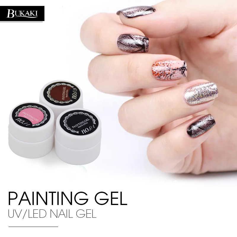 BUKAKI 8 ml peinture Gel vernis Semi Permanent Bio acrylique ongles dessin UV Gel vernis à ongles bricolage Nail Art laque