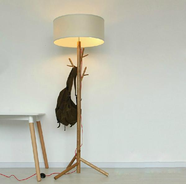 Nordic Ikea Kreative Kleiderbugel Holz Stehlampe Wohnzimmer Lampe
