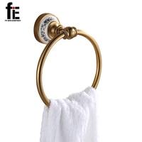 FiE Wall Mount Towel Ring New Towel Holder Aluminum Towel Bar Bathroom Accessories