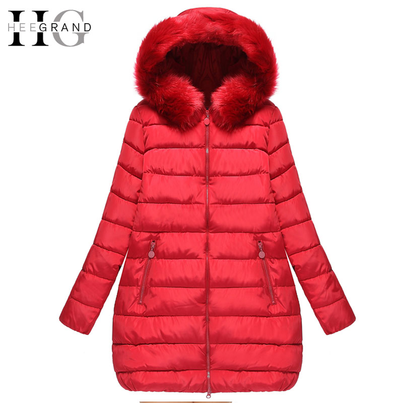 9b53b1da905a2 HEE GRAND 2016 Thick Down Mulheres Casaco De Inverno Long Oversized Warm  Cotton Coats Winter Fur Hooded Women Parkas 5XL WWM1436-in Parkas from  Women's ...