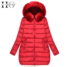 HEE GRAND 2016 Thick Down Mulheres Casaco De Inverno Long Oversized Warm Cotton Coats Winter Fur Hooded Women Parkas 5XL WWM1436
