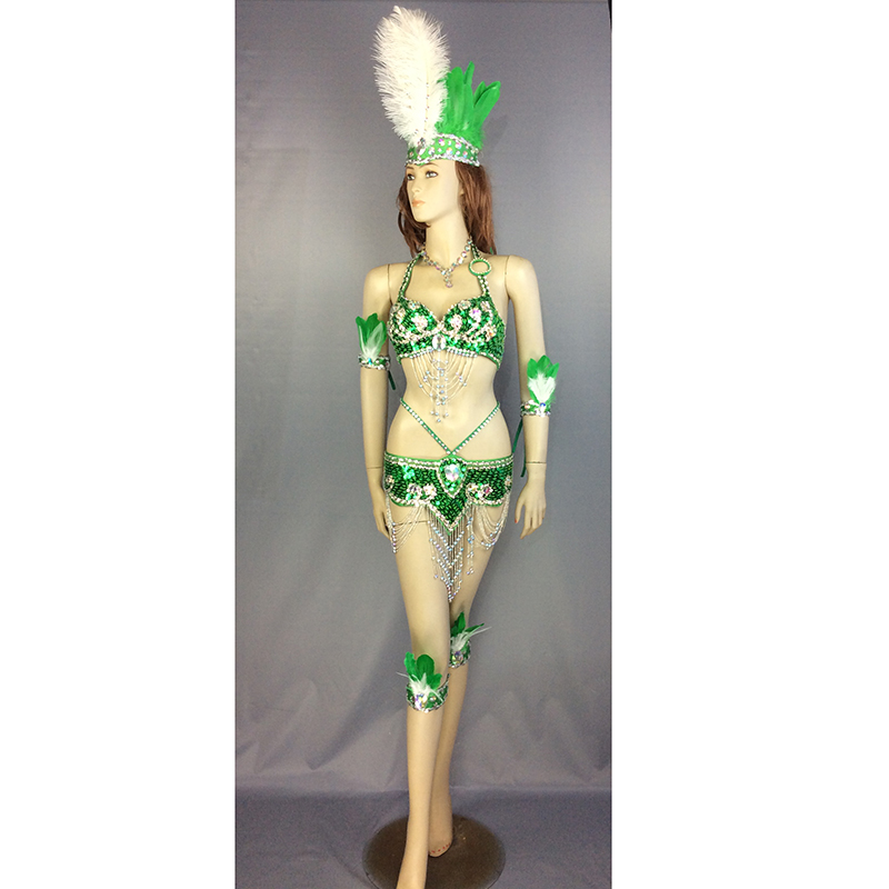 Free shipping new design top grade belly dance Samba Carnivel RIO Crystal Bra Costume Outfit Showgirl dancer costume 8 color