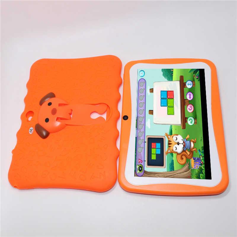 Glavey 7 インチ AllWinner A33 Q88pro 子供タブレット Pc アンドロイド 4.4 512 メガバイト + 8 グラムクアッドコアクラッシュプルーフギフトカラフルなキッズ錠