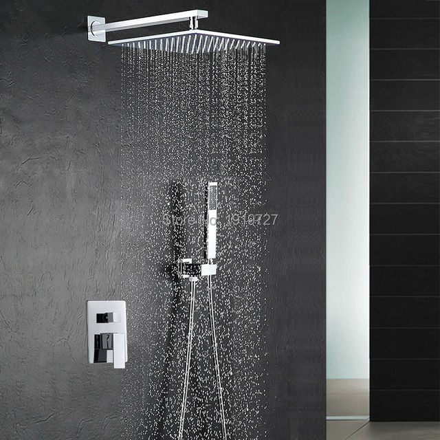 10 Inch Shower Head Luxury Wall Mounted Square Style Brass ...
