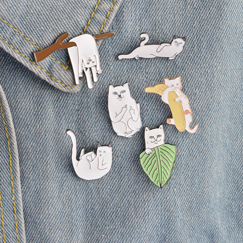 Arts,crafts & Sewing Reasonable 1 Pcs Cartoon Parrot Black Cat Metal Badge Brooch Button Pins Denim Jacket Pin Jewelry Decoration Badge For Clothes Lapel Pins Badges