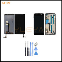 YUEYAO LCD Screen For Blackberry DTEK50 DTEK 50 Display Glass LCD Touch Screen Digitizer Assembly With Frame+Tools+Tracking