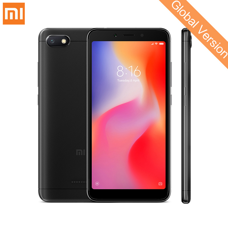 In Magazzino Globale Versione Xiaomi Redmi 6A 2 gb 16 gb del telefono Mobile 5.45 ''Schermo Intero Helio A22 Quad core Fotocamere 13mp AI Viso di Sblocco