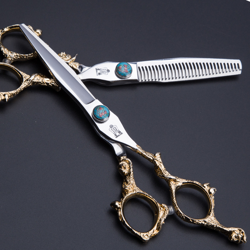 "Golden Monkey Handle Shear 6"" Hairdressing Japanese 440c Steel Hair Scissors Professional High Quality Barber Knife New Arrival"