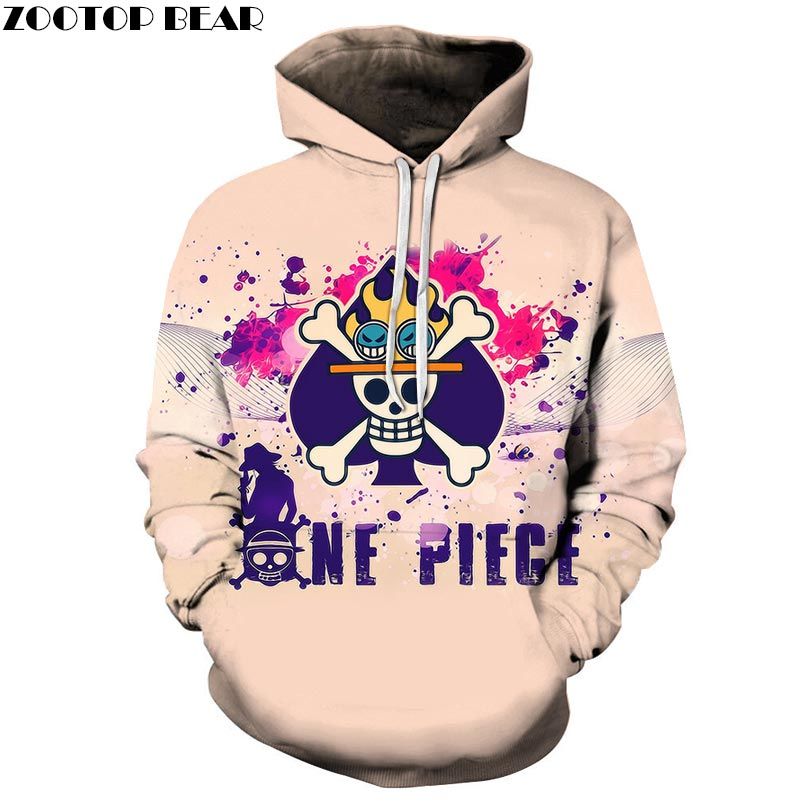 Lovely One Piece 3D Print Hoodies Girls Men Sweatshirt Hooded Tracksuit Pullover Streetwear Spring Coat ZOOTOP BEAR Drop Ship