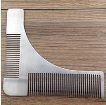 1Pc Stainless Steel Beard Shaping Template Comb Trim Tool Shaving Tool Comb