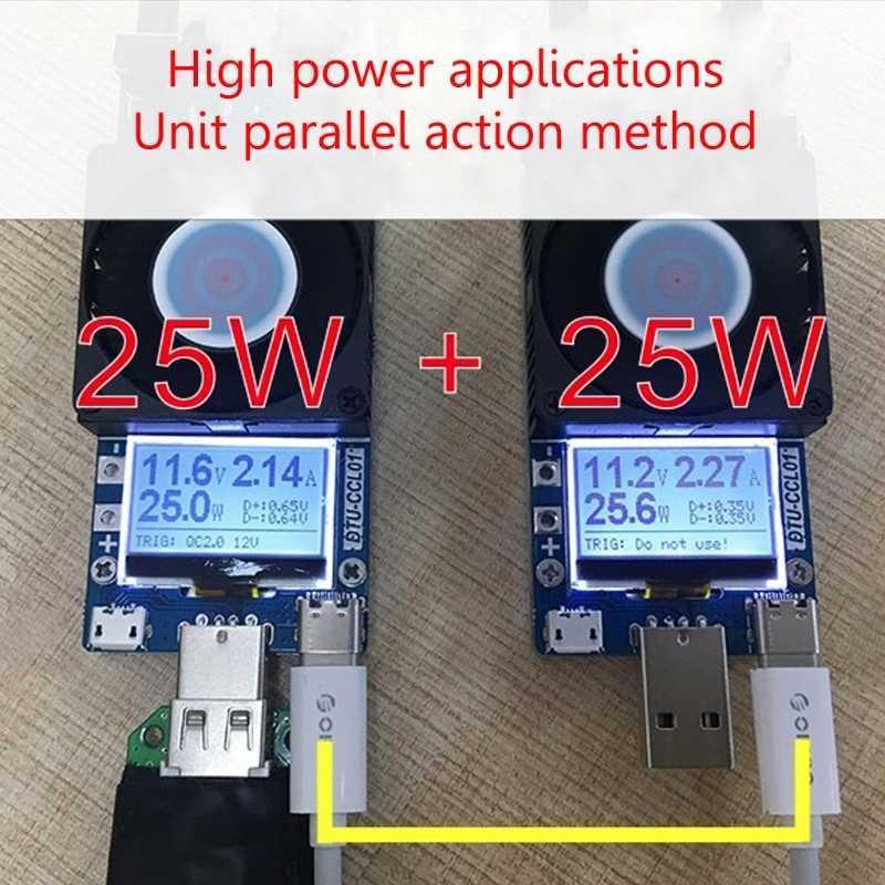 Entrega gratuita QC2.0/3.0 Gatilhos 35 W Teste de Carga de Corrente Constante Ajustável Dual USB Eletrônico